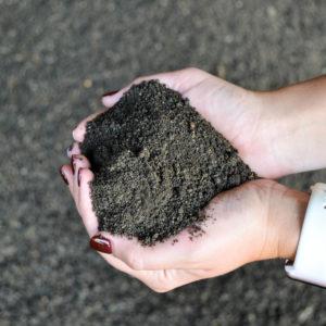 Shredded topsoil